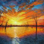 Sunset over Lake Victoria Ltd Ed Giclee Print