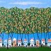 Tiny Town Under The Autumn Trees By Lisa France Judd 72dpi Best