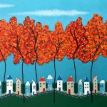 Tiny Town Under The Autumn Trees No 2