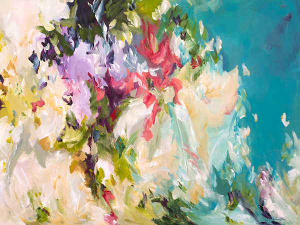 Breaking Free Colourful Abstract By Australian Artist Amber Gittins