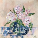 Peonies in the blue vase