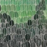 Abstract Green Leaves CZ19026