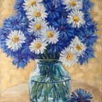Daisies and cornflowers