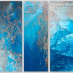 Ocean Blue Snibits (Triptych Prints)