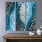 Teal Reef Snibits (Triptych Prints)