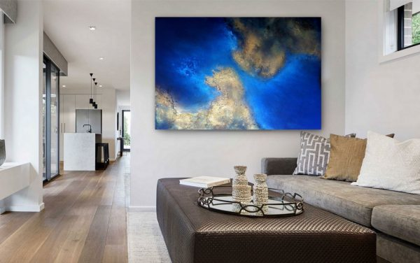 Calm Waters A Resin Coated Painting For Sale By Petra Meikle De Vlas3
