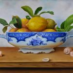 Still life of Lemons and shells