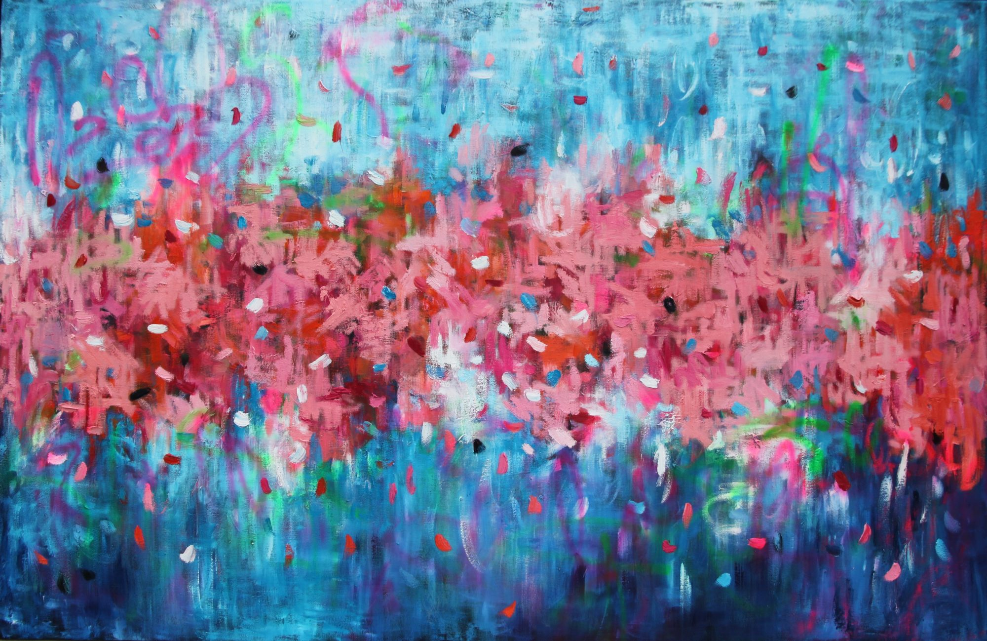Belinda Nadwie Art Abstract Painting Only With A Pure Heart Two