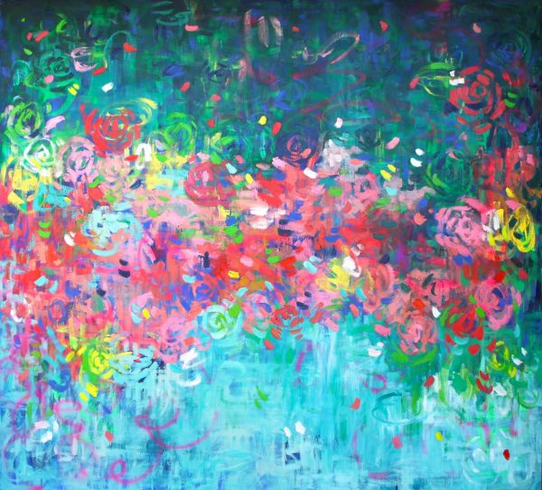 Belinda Nadwie Art Abstract Painting Sydney Artist Huge Big The Block Shop The World Is Yours