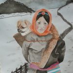 Tibetan Spaniel Dog and Tibetan Girl