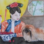 Pekingese Dog and Qing Princess