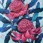 Purple Waratah Flowers