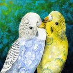 Budgie Pair – Limited Edition Print