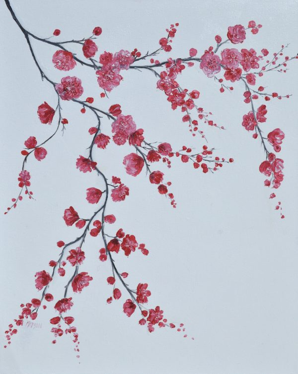 Cherry Blossom Painting By Jan Matson