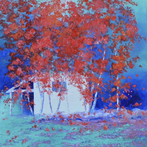 Japanese Maple Trees Painting By Jan Matson