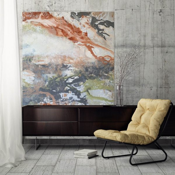 Eucalypt With Concrete Wall Mustard Chair