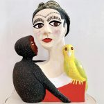 Frida with Monkey Sculpture