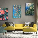 Wild Botanical Abstract Series  Set of 3